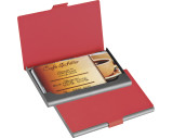 Rubberised business card holder